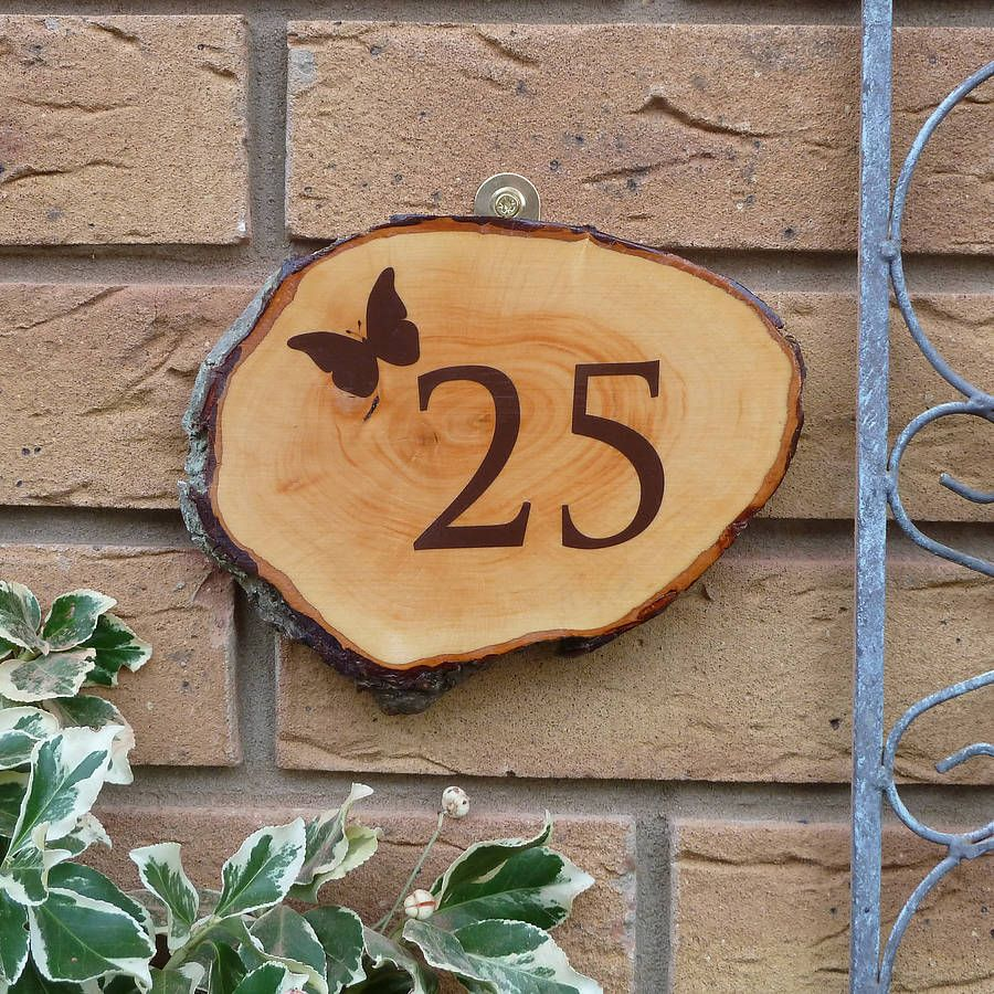 personalised wooden door number sign by nutmeg signs ...