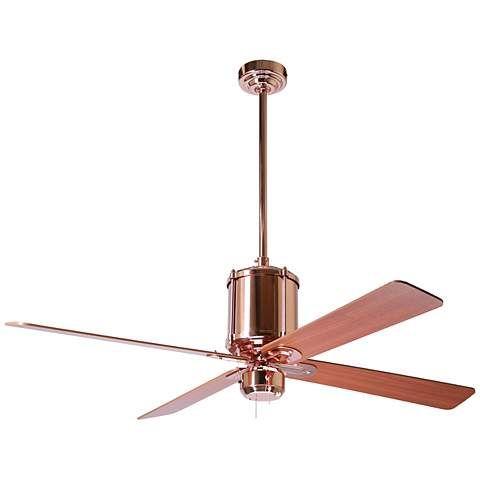 52 Industry Polished Copper Ceiling Fan K9605 Www Lampsplus