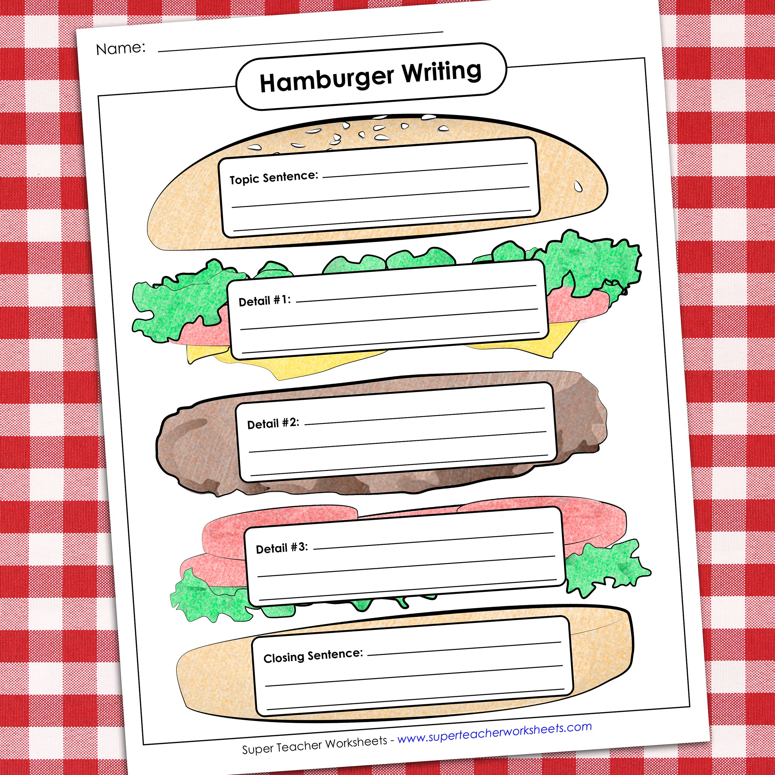 Hamburger Writing Writing Graphic Organizers Graphic Organizers Writing Templates