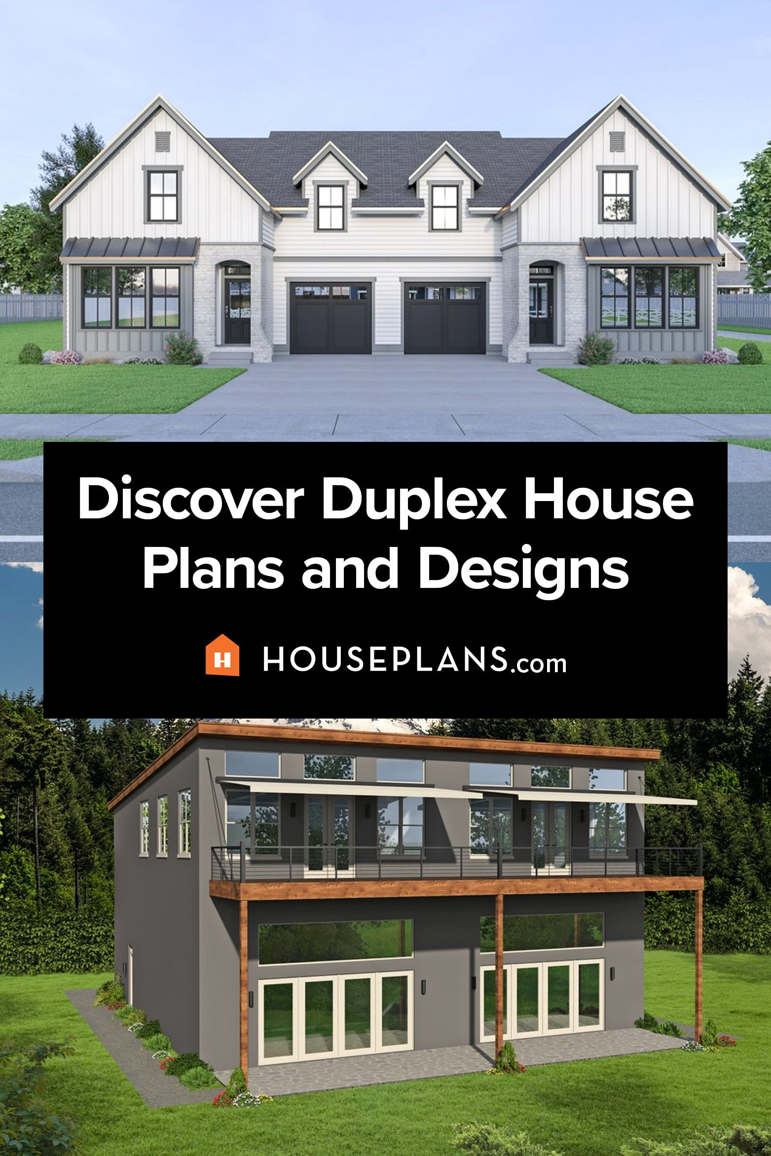 Duplex House Plans And More Duplex House Plans House Plans Modern Farmhouse Plans