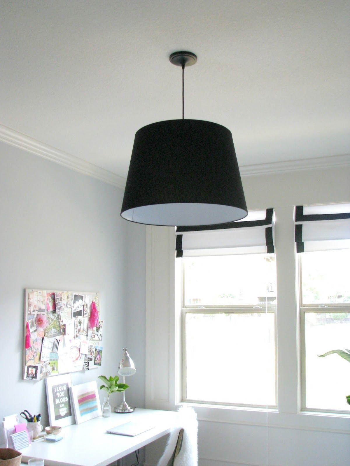 Black JARA Shade from Ikea + pendant light kit from Lowes