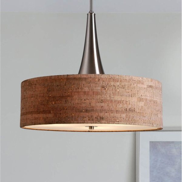 Overstock Pendant Lights Custom Design Craft Bachman 22Inch Brushed Nickel Cork Pendant Bachman Inspiration