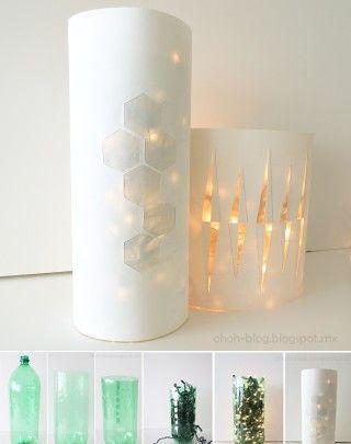 lampara-luces-navidad-diy-muy-ingenioso-2 Reuse, Recycle - Luces De Navidad