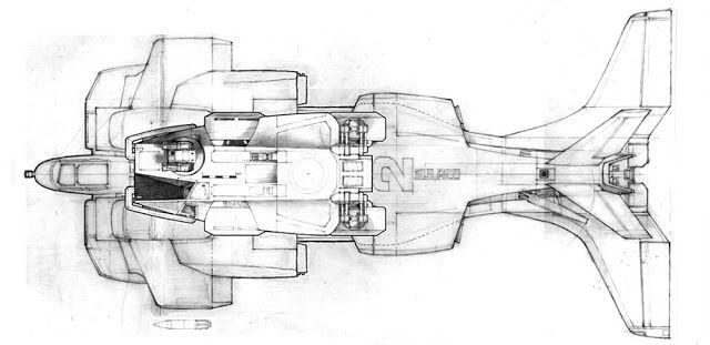 The Secret Space Base: Ron Cobb Aliens Dropship Concept Art!