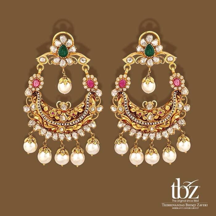 953d796feab62 Tbz chandbali | JEWELS ROYALE | Jewelry, Indian jewelry earrings ...