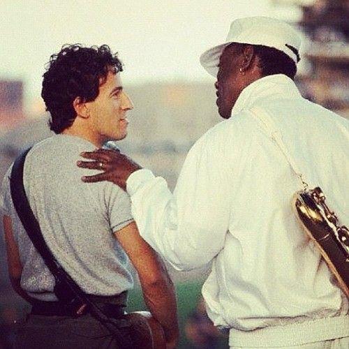 Bruce Springsteen & Clarence Clemons.