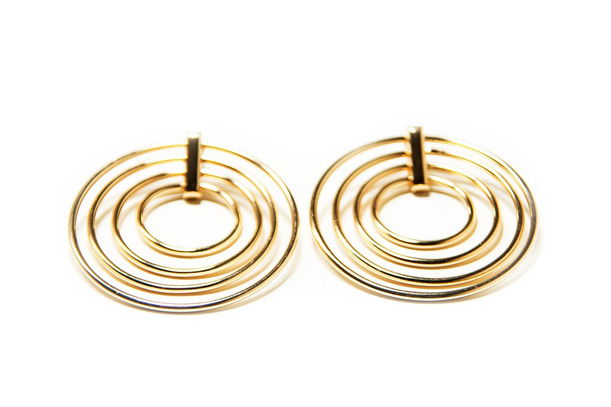 wire earrings knot love stud large s pin white women gold size