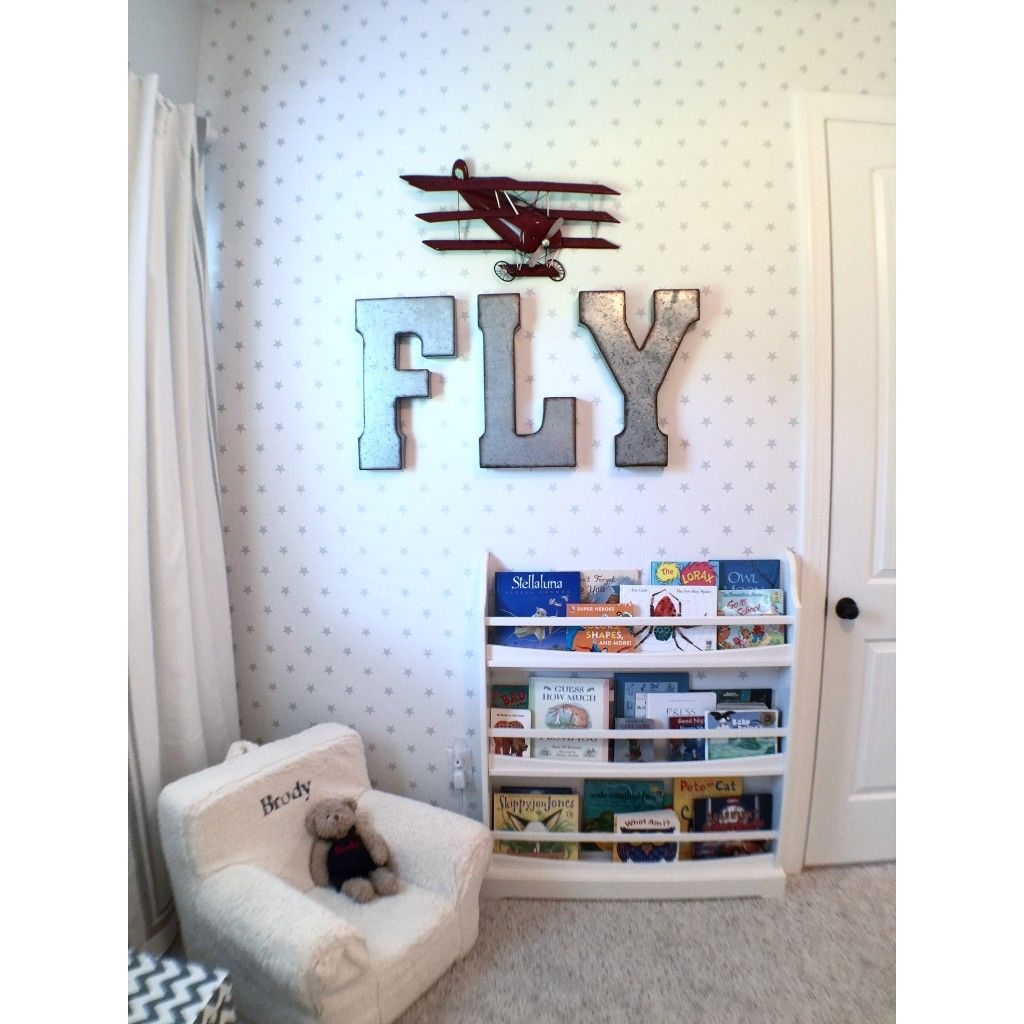 Airplane themed toddler room airplanes room and toddler for Airplane bedroom ideas