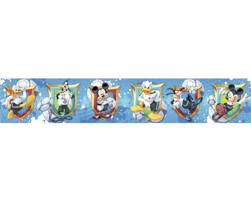 Bordüre Digital selbstklebend Mickey Mouse blau 5 m x 10,6 ...