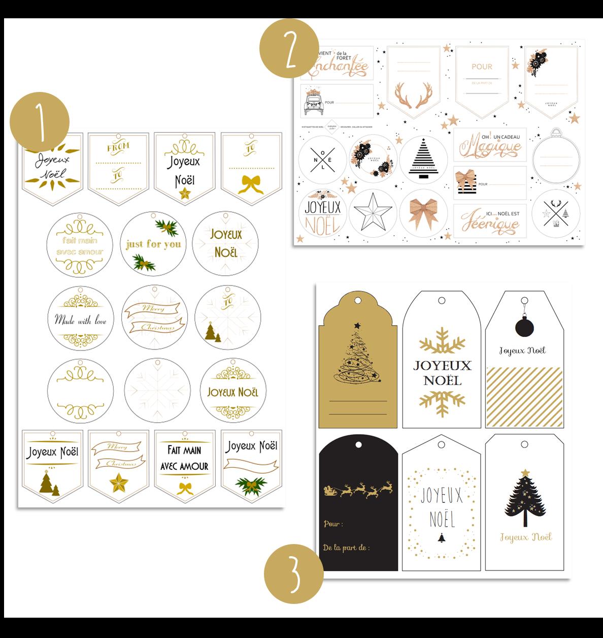 une s lection d 39 tiquettes de no l imprimer gratuitement provenant de 9 blogs diff rents. Black Bedroom Furniture Sets. Home Design Ideas