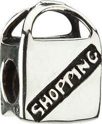 50% Off Chamilia Silver Shopping Bag Charm.  Normally priced at $35, On-Sale for $17.50.