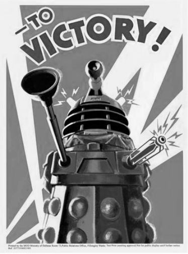 """DR. WHO Poster Black and White Poster 24""""x36"""""""