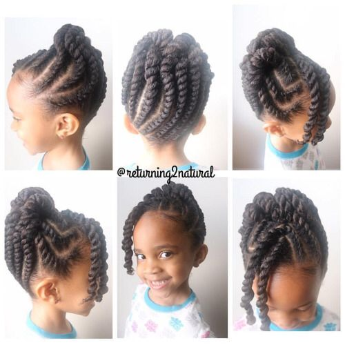 Flat Twist Updo With Bangs In 2019 Girls Natural