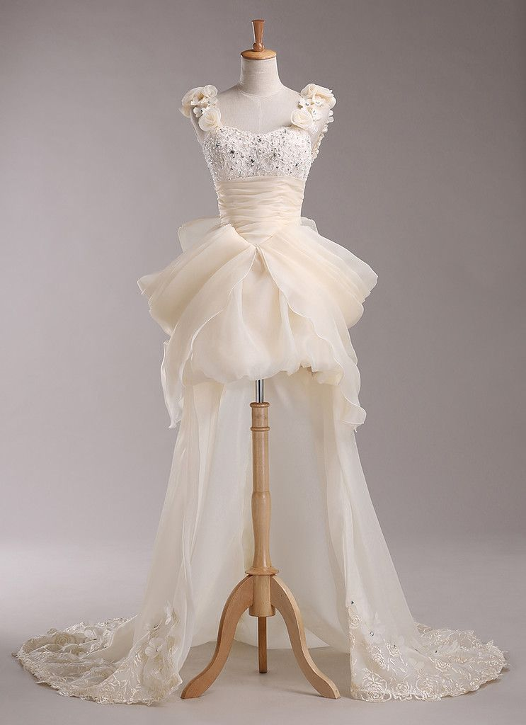 Gaun Pengantin Cantik Design Depan Pendek Belakang Panjang Crystal