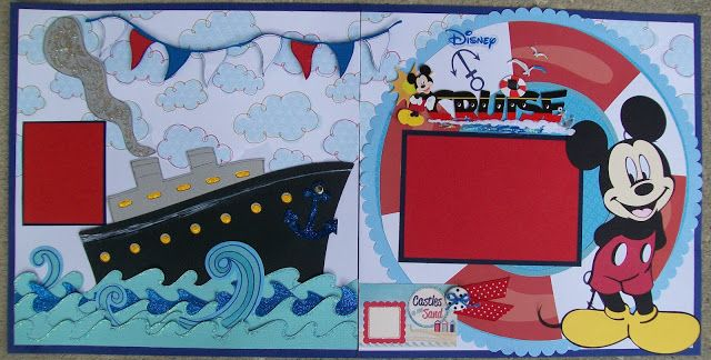 AMAZING GRACE Paper Crafts: Two Mickey Mouse Layouts