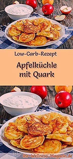 Photo of Low Carb Apfelküchle mit Quark – gesundes Rezept fürs Frühstück