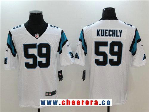 518282de7394e Men s Carolina Panthers  59 Luke Kuechly White 2017 Vapor Untouchable  Stitched NFL Nike Limited Jersey