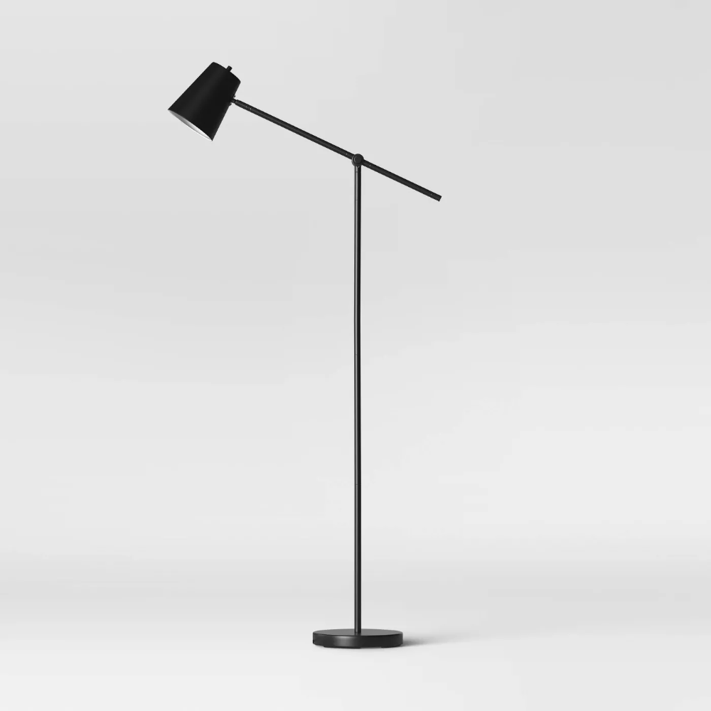 Cantilever Floor Lamp Black Includes Energy Efficient Light Bulb Project 62 In 2020 Energy Efficient Light Bulbs Black Floor Lamp Floor Lamp