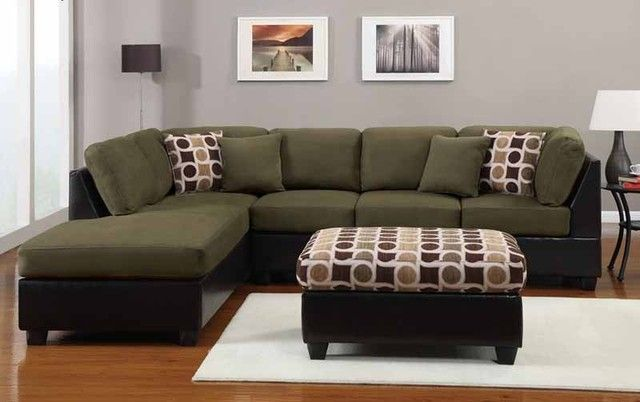 Green Sectional Sofa With Chaise Couch Design Furniture Design