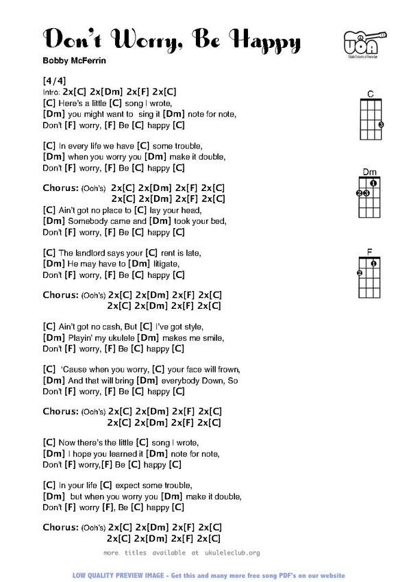 Don\'t Worry Be Happy | Music Therapy | Pinterest | Guitars, Ukulele ...