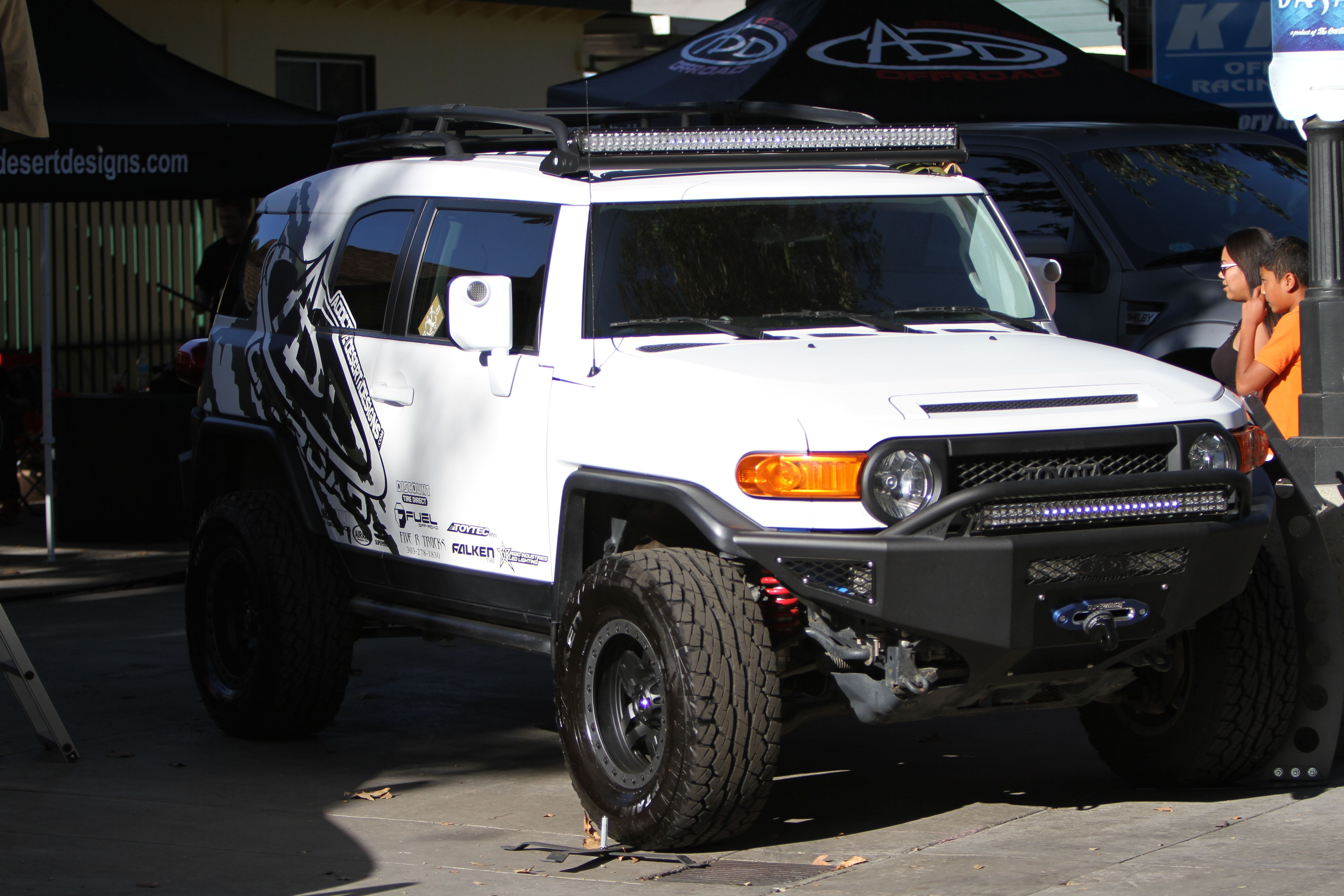 Toyota fj cruiser stealth fighter front bumper toyota fj cruiser toyota fj cruiser stealth fighter front bumper with sweet light bar mozeypictures Image collections