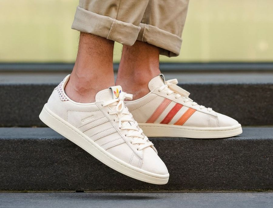 release date: 4aa62 42f85 chaussure-adidas-campus-pride-beige-better-together-on-