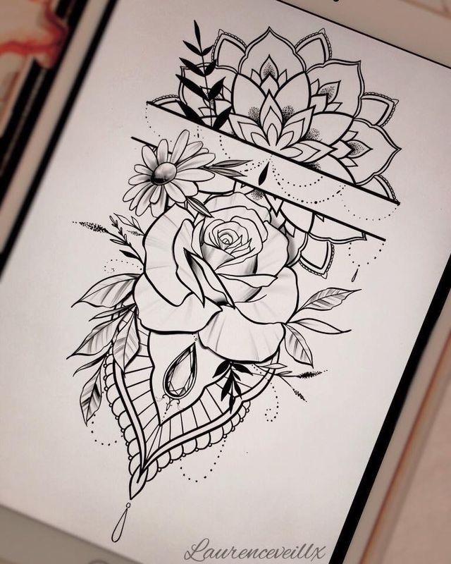 Mandala Tattoo Drawing Mandalatattoo In 2020 Forearm Tattoo Women Hand Tattoos Forearm Flower Tattoo