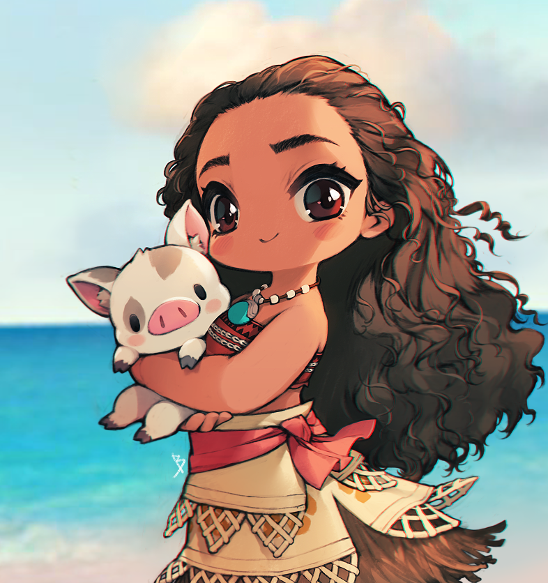I love love love Moana she us so cool:) she is actually one of my ...