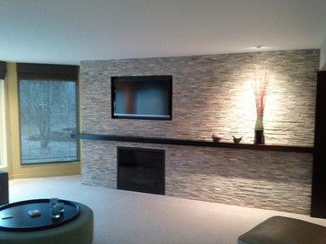 Tile   Fireplace   Contemporary   Fireplaces   Grand Rapids   DeGraaf  Interiors
