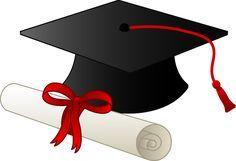 graduation clip art borders graduation cap and diploma free clip rh pinterest com high school graduation clip art free