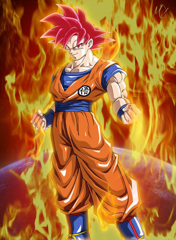 Son Goku Ssj God Vs Cell Google Search Goku Super Saiyan