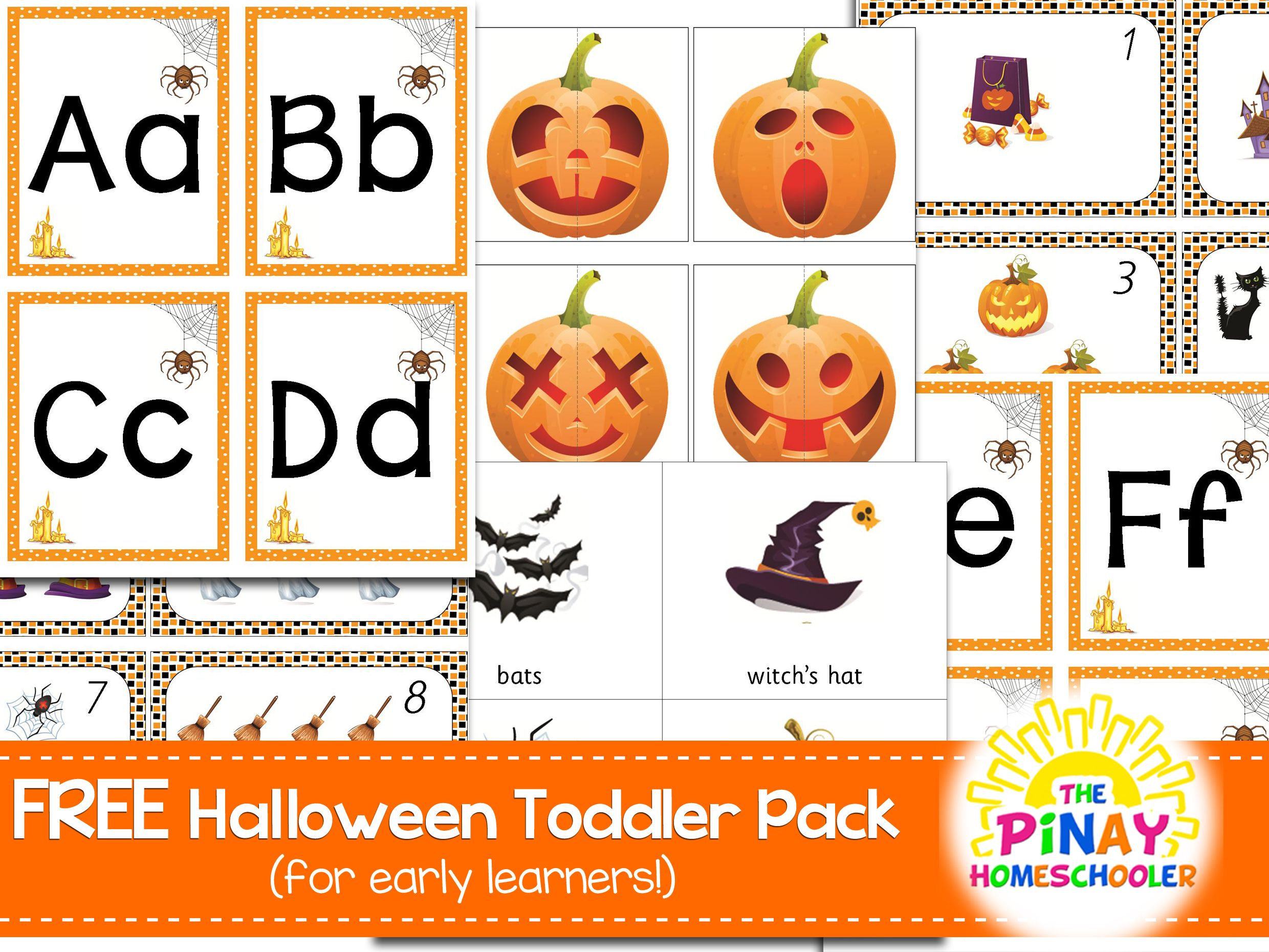 Free Halloween Learning Pack For Toddlers In