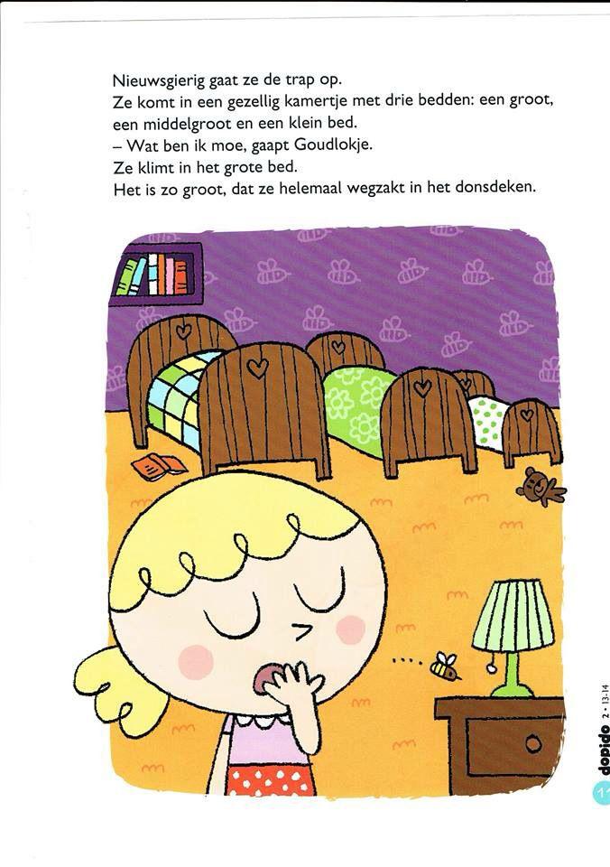 Goudlokje verhaal 11 | slapen gaan/dromen | Pinterest