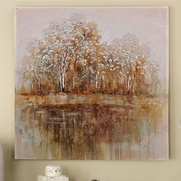 Giftcraft #083908 Trees on the Lake Canvas | Hope Home ...
