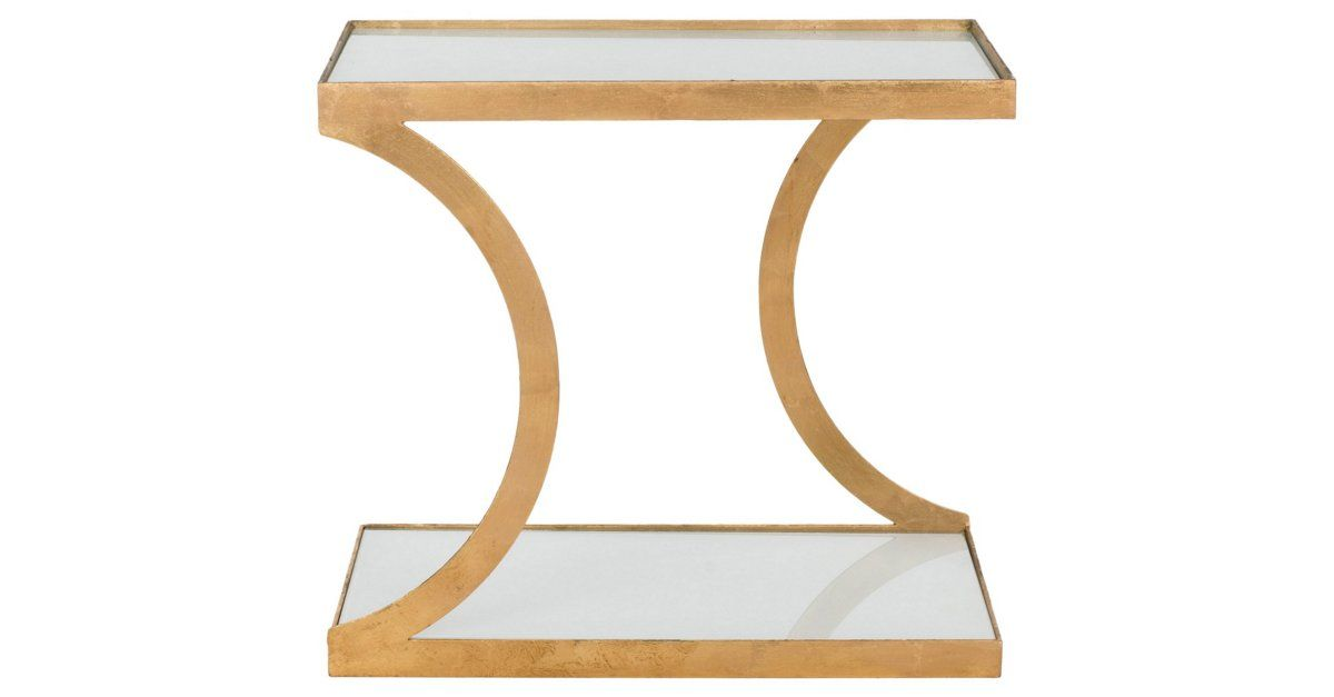 Eye Catching Curves On The Base Temper Angular Square Top And Bottom Of This End Tablesgl