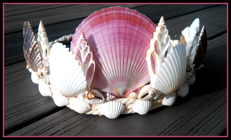 New to dieselboutique on Etsy: seashell crown shell Headband beach wedding headpiece festival mermaids siren fish  crown white costume nautical mermaid (150.00 USD)