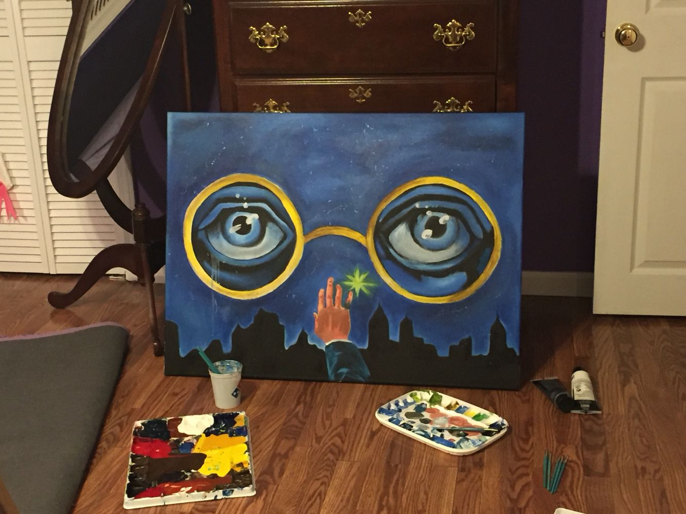 The Great Gatsby Eyes Of Tj Eckleberg Painting I Did