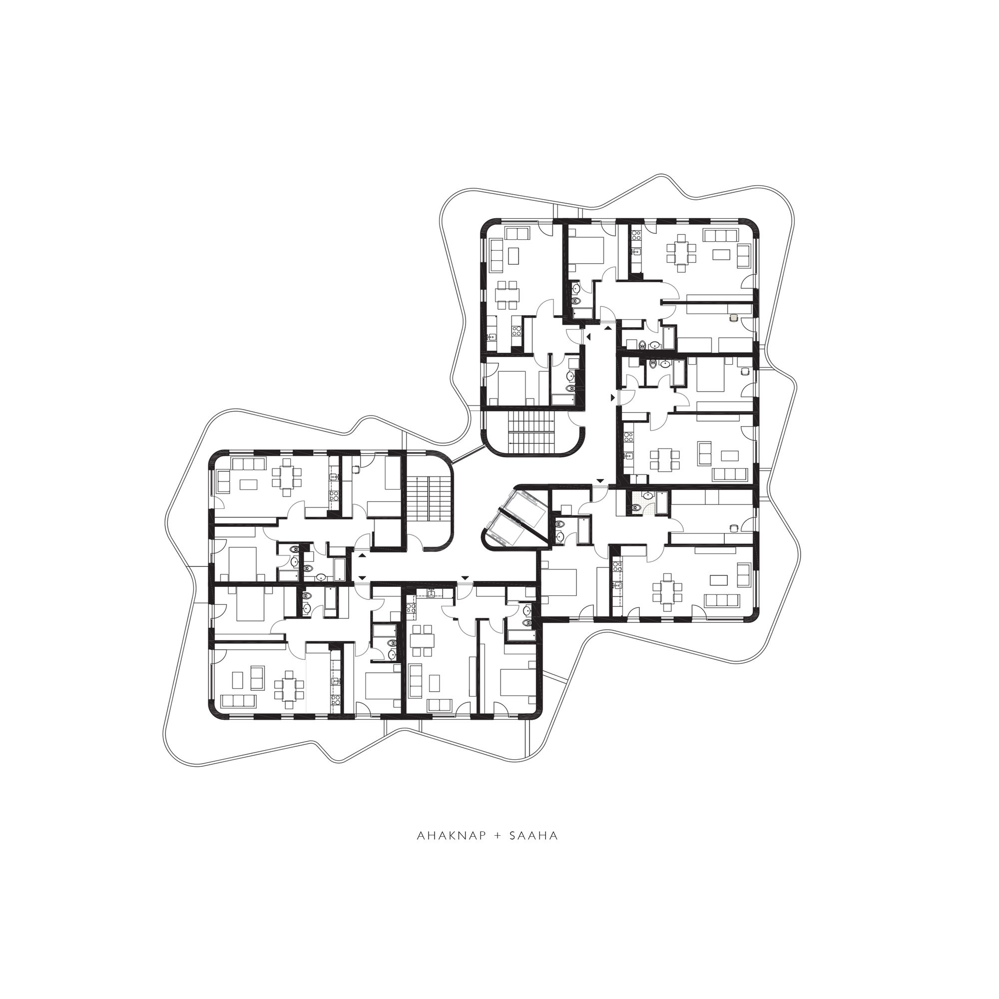 Gallery Of Wave Housing Ahaknap Saaha 2 Residential Building Plan Apartment Plans Architecture House