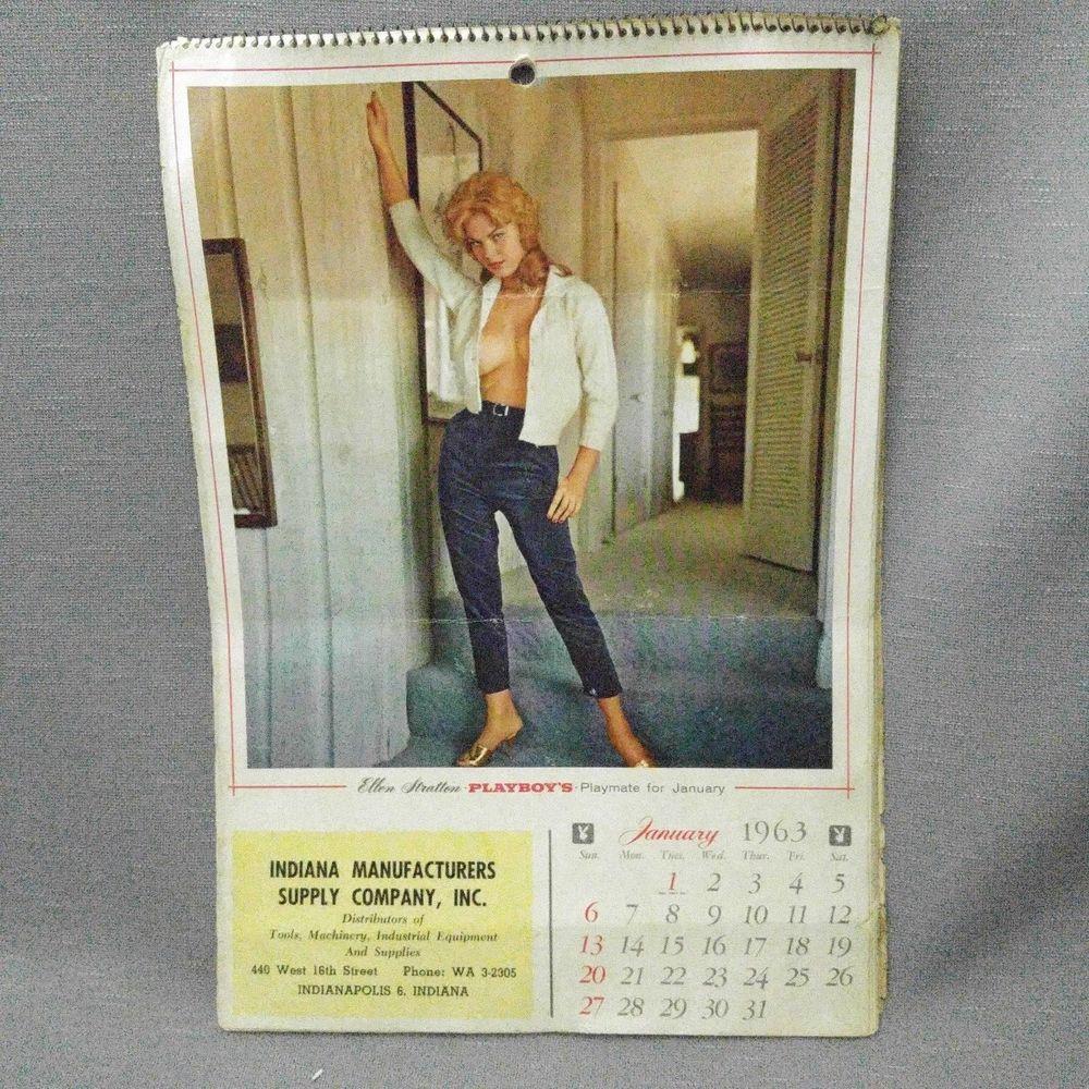 1963 Playboy Playmate Calendar Pin Up Topless Tina Louise