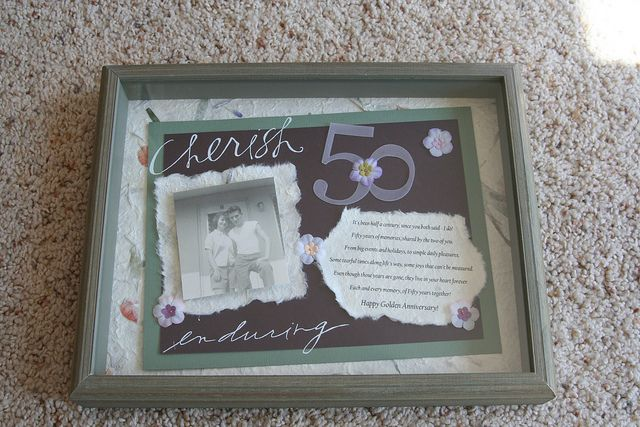 Shadow Box 50th Wedding Anniversary 50th Anniversary