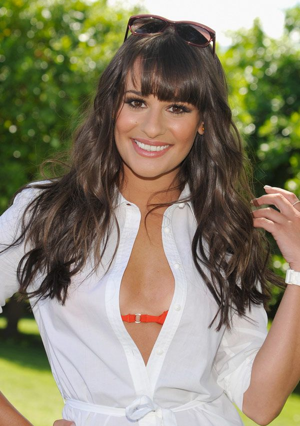 Lea Michele looking amazing at Coachella with full bangs