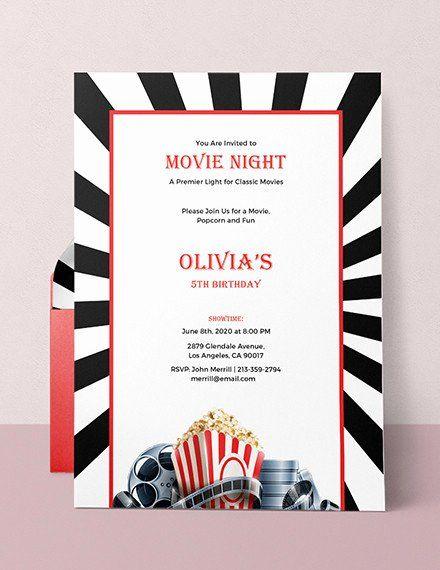 Movie Night Invitation Template Free Lovely 78 Invitation