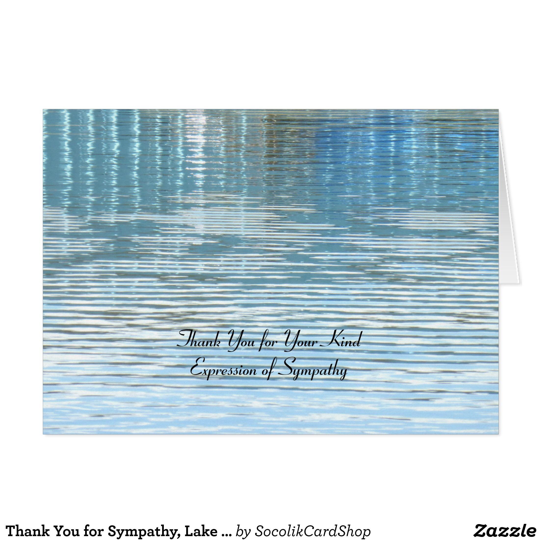 Thank You For Sympathy Lake Reflection Zazzle Com Sympathy