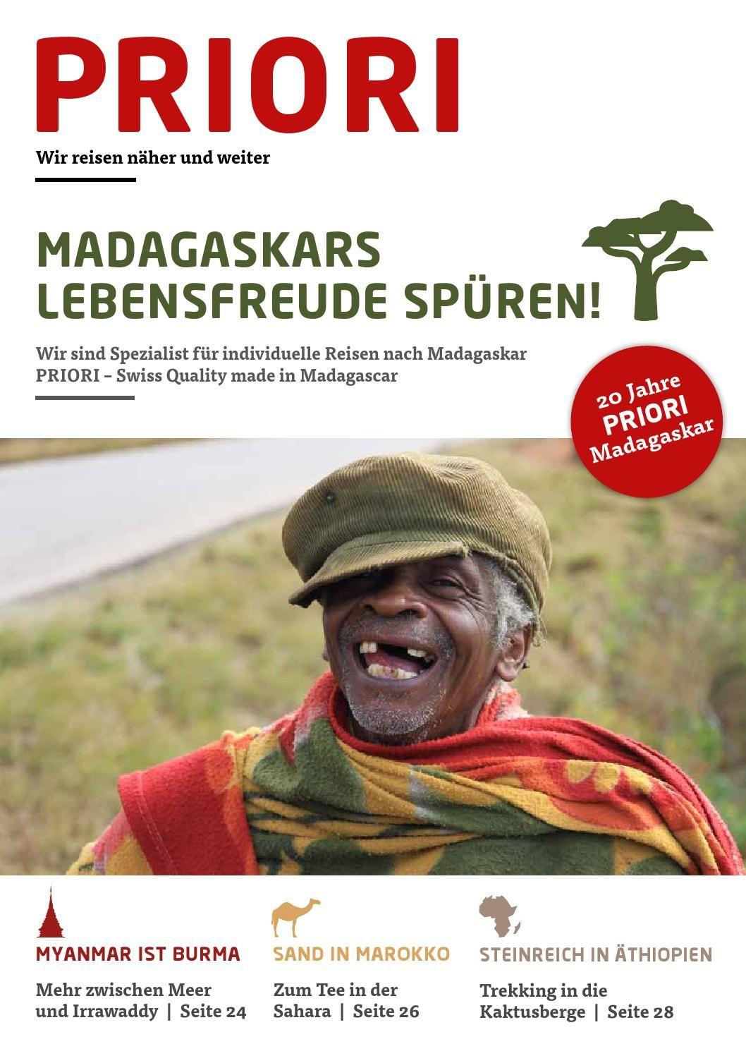 PRIORI Reisen stellt sich vor. Wir sind seit 20 Jahren mit einem Team vor Ort in Antananarivo und organisieren individuelle Reisen mit hohem sozialem Anspruch in Madagaskar, zuverlässig und Swiss Quality Made in Madagascar.