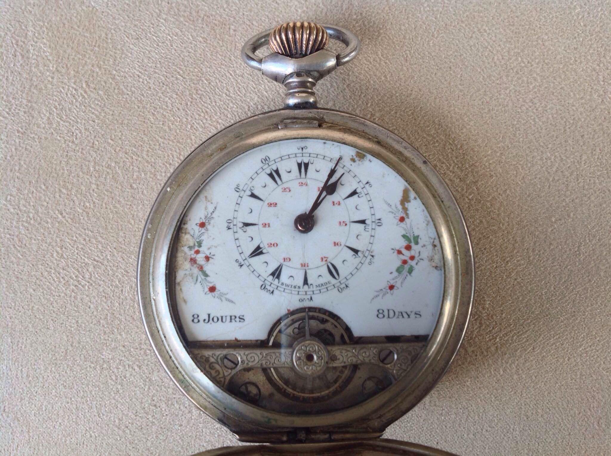 0e3877a515b Relógio De Bolso · Hebdomas Pocket Watch