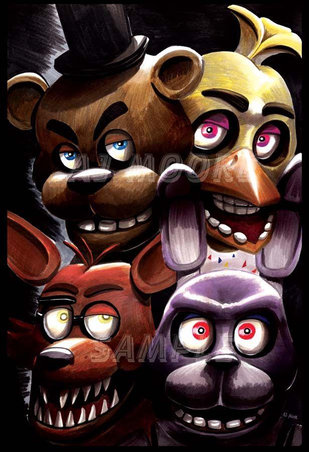 Evil Animatronics Five Nights At Freddy S By Artist Aj Moore