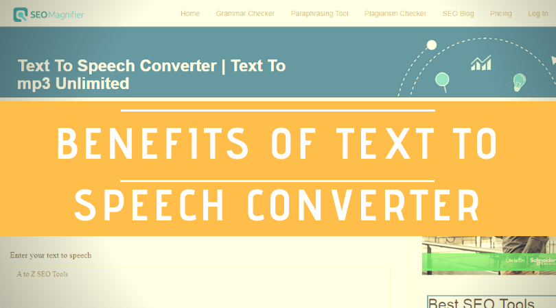 Text To Speech Converter I An Online Free Tool That Used Convert Unlimited Amount Of High Quality Mp3 For Busines Spoken Words Professional Paraphrasing