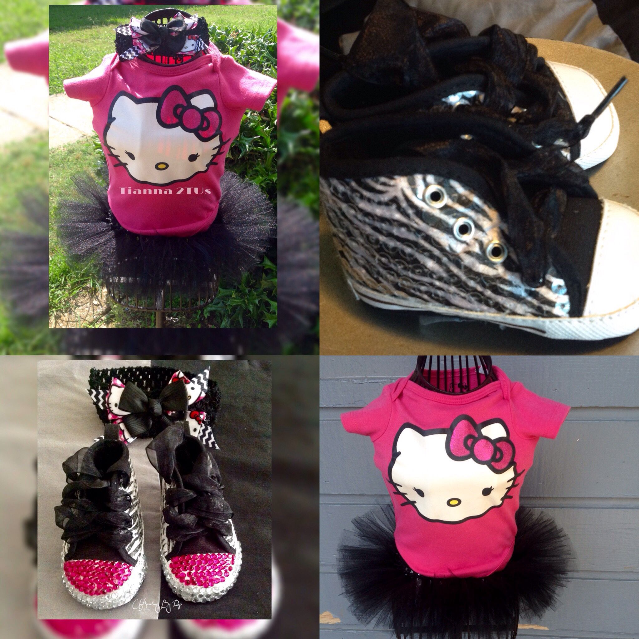 Hello Kitty 2tu Set With Matching Shoes And Hairbow With