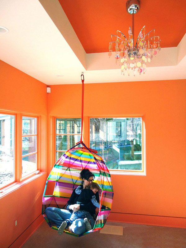 Polaris residence, MA - Colorful hanging chair