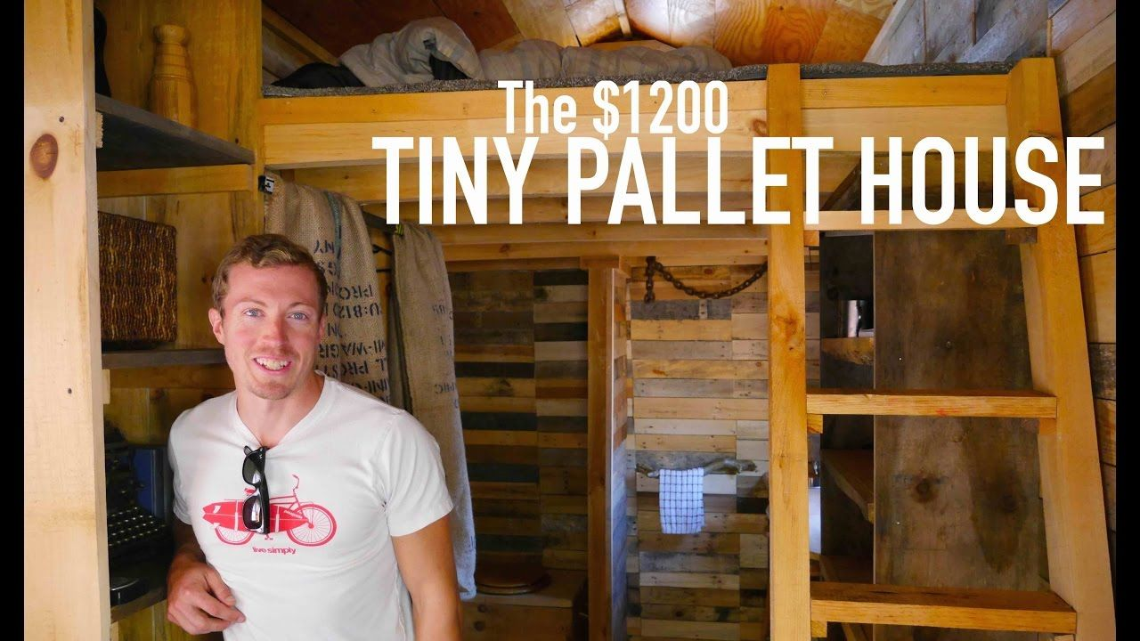 A 1200 14 Tiny House Made Of Pallet Wood Pallet House Plans Cheap Tiny House Pallet House